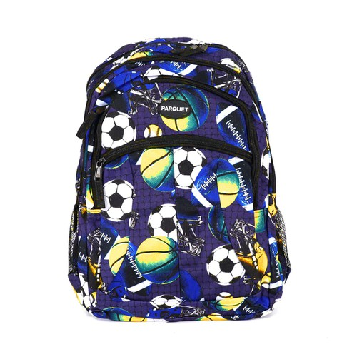 Football Pattern Novelty Backpack - orangeshine.com