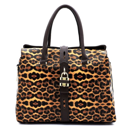 Leopard Padlock Multi Compartment  - orangeshine.com