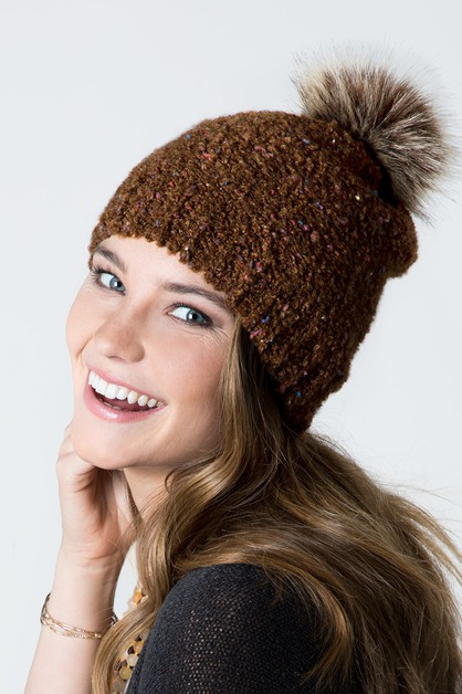 Speckled Yarn Beanie - orangeshine.com