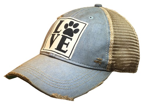 Love Paw Dog Trucker Hat - orangeshine.com