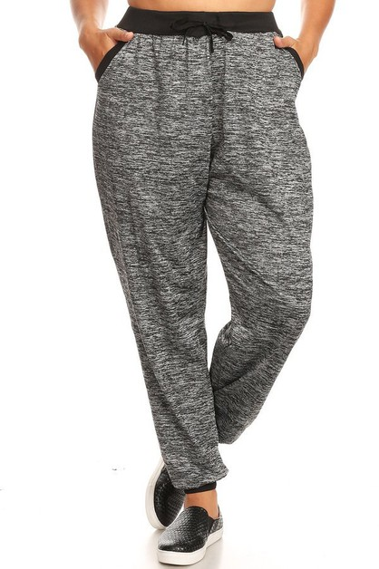 Plus Size Fleece Joggers Sweatpants - orangeshine.com