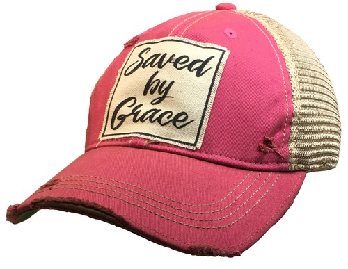 Saved By Grace Trucker Hat - orangeshine.com