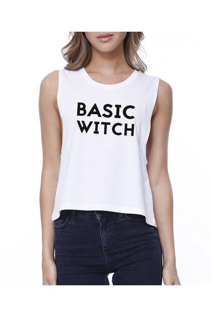 JCR218XX Basic Witch Croptop - orangeshine.com