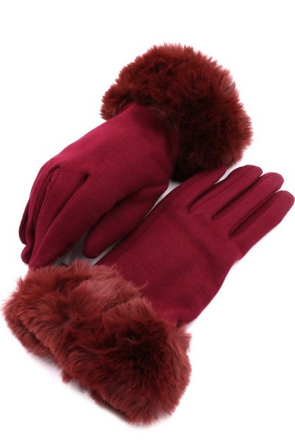 Faux Fur Smart Glove - orangeshine.com