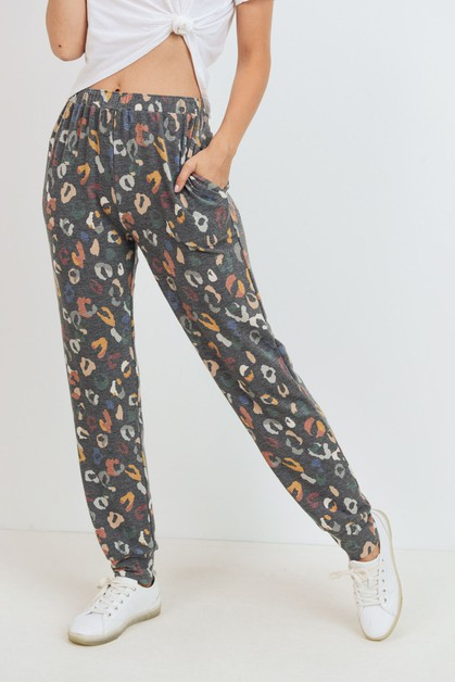 Cheetah Print Pants - orangeshine.com