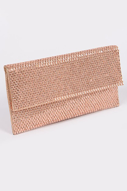 Studded Synthetic Clutch - orangeshine.com