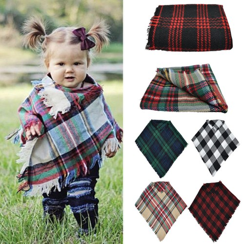 Toddler Plaid Scarf - orangeshine.com