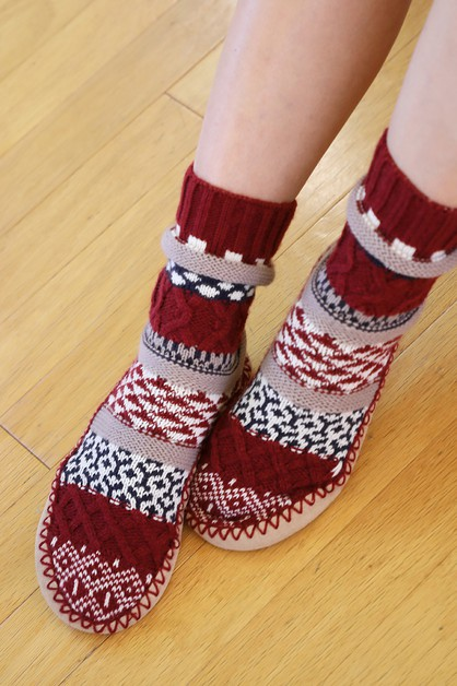 Nordic Slipper Sock Boot  - orangeshine.com