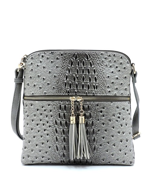 Ostrich Croc Fashion Crossbody - orangeshine.com