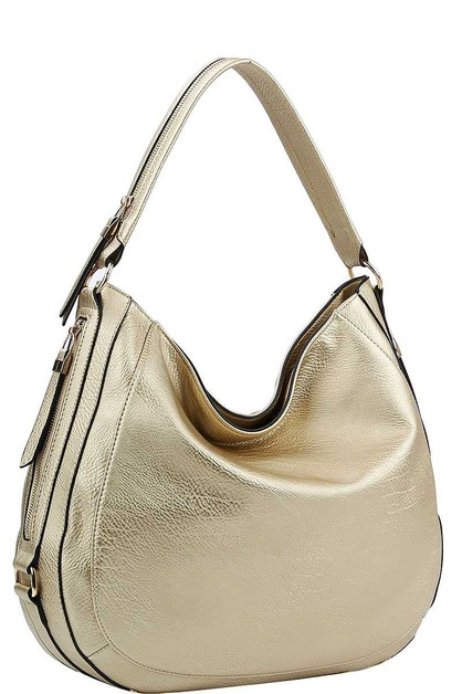 CHIC STYLISH SIDE ZIPPER HOBO BAG - orangeshine.com