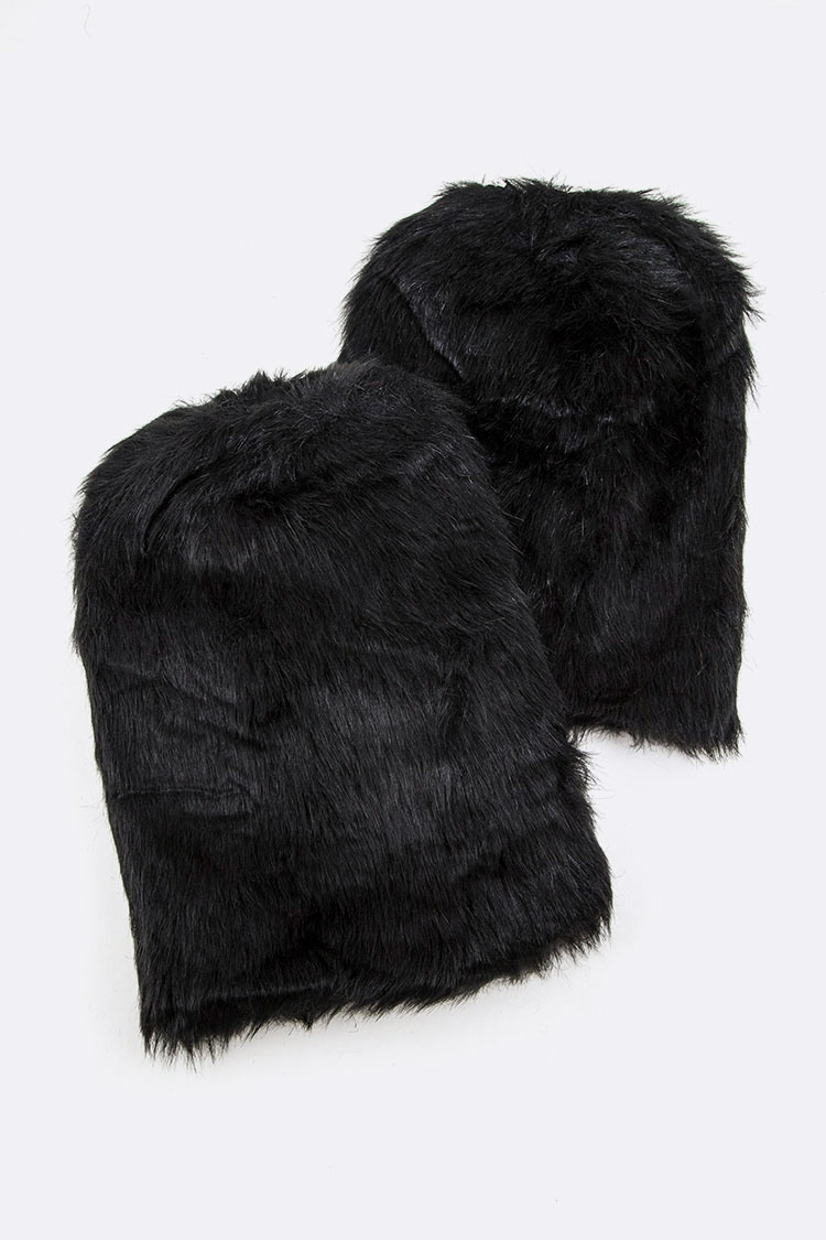 Faux Fur Boot Cuff Warmer - orangeshine.com