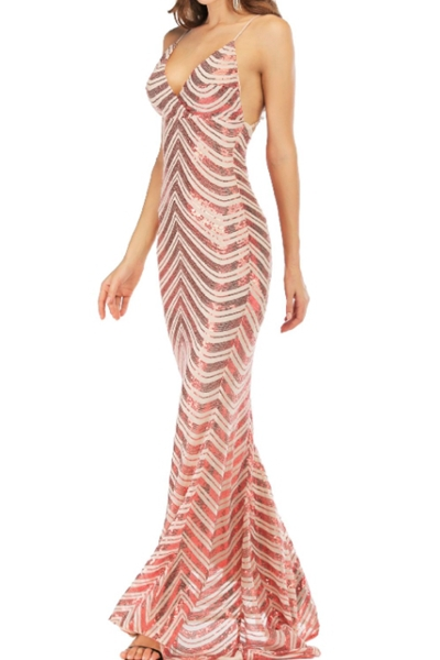 Mermaid scales maxi dress - orangeshine.com