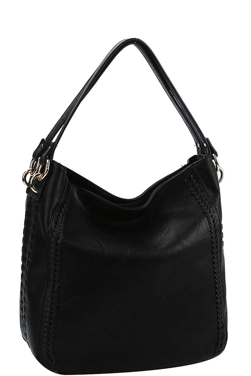 STYLISH BRAIDED SIDE ACCENT HOBO BAG - orangeshine.com