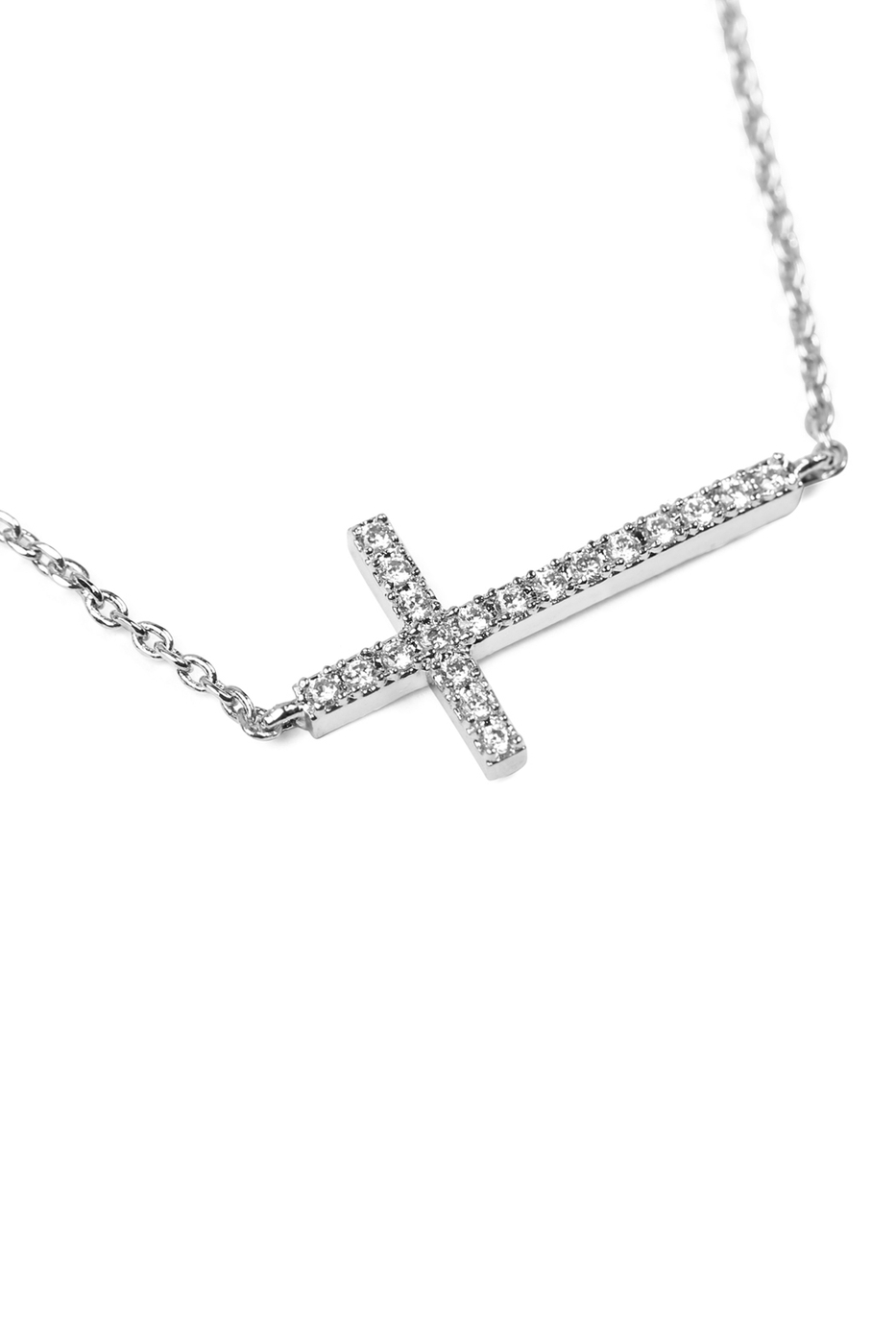 ZIRCON CROSS PENDANT NECKLACE - orangeshine.com