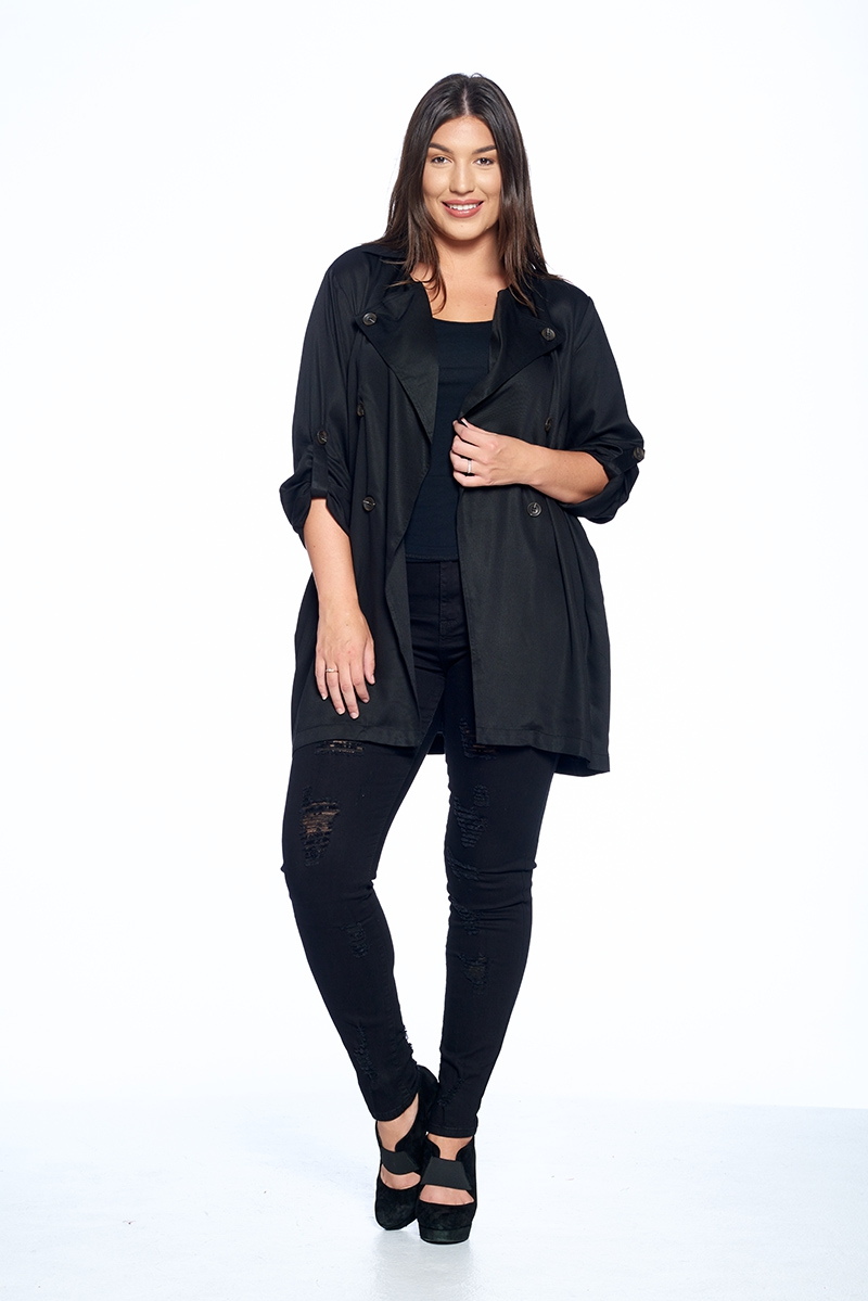 Plus Size Draped Cardigan - orangeshine.com