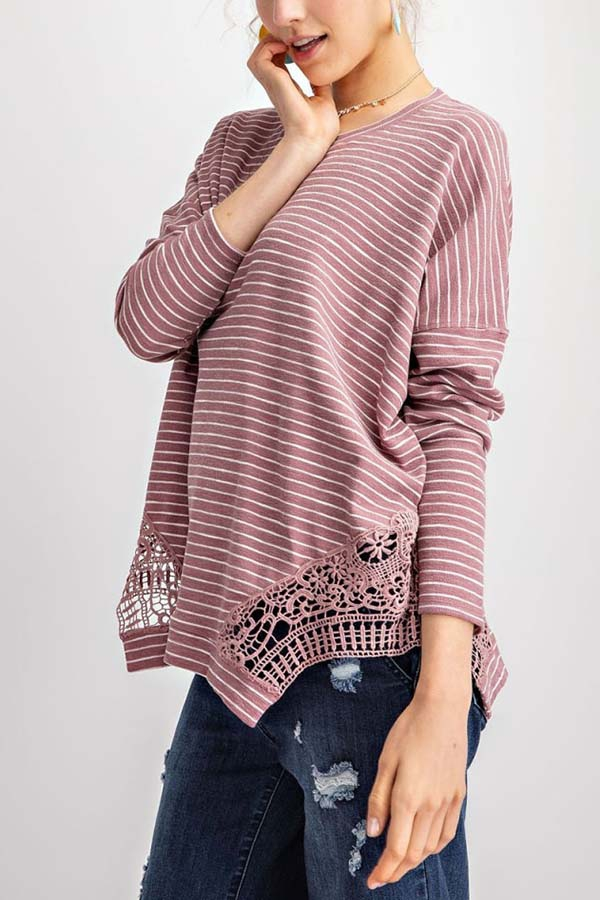PIN STRIPE PULLOVER TOP - orangeshine.com