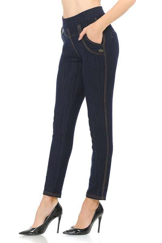 FLEECE LINED DENIM  JEGGINGS - orangeshine.com