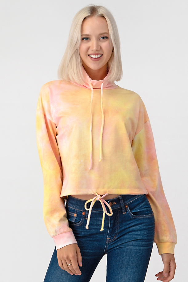 LONG SLEEVE TIE DYE LOOSE FIT TOP - orangeshine.com