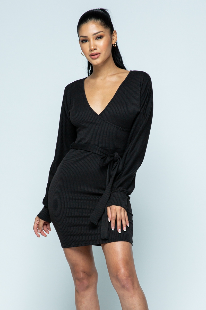 dolman sleeve mini dress - orangeshine.com