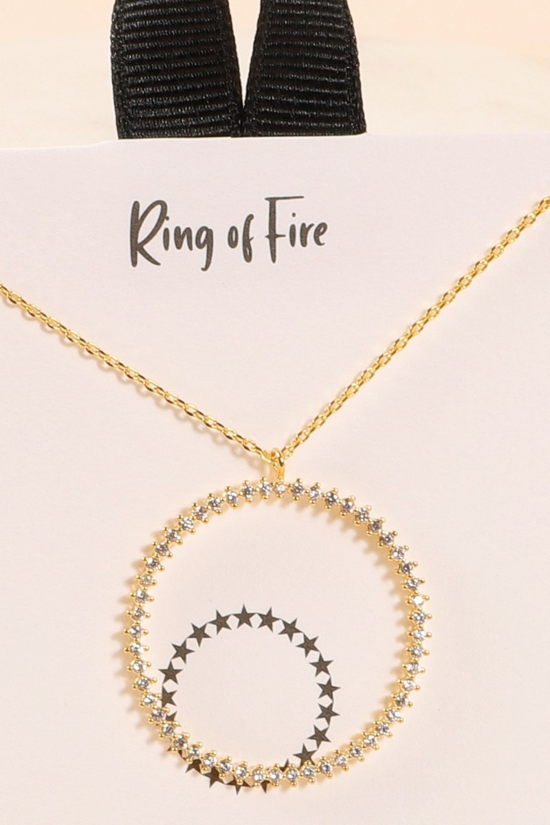 Ring of Fire Circle Necklace - orangeshine.com