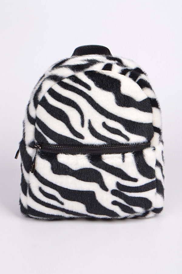 Animal Print Plush Backpack - orangeshine.com