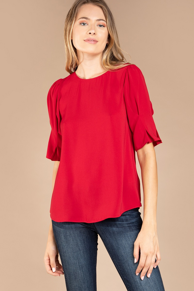 PUFF SLEEVE BLOUSE - orangeshine.com