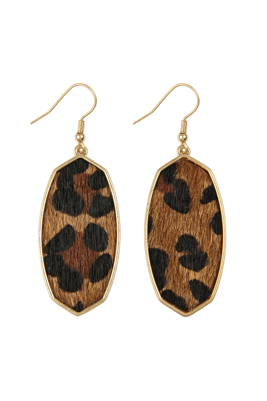 OVAL DROP LEOPARD SKIN EARRINGS - orangeshine.com