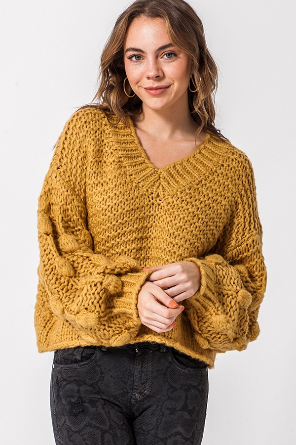 PULLOVER V NECK SWEATER - orangeshine.com