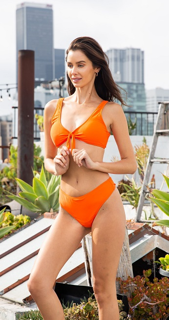 Knotted Two Piece Bikini - orangeshine.com