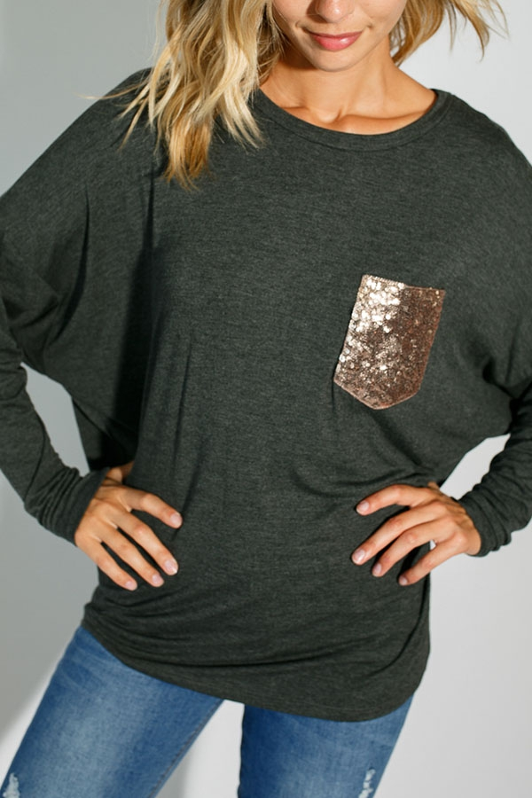 DOLMAN LONG SLEEVE ROUND NECK TOP - orangeshine.com