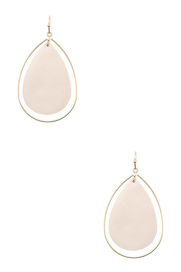 DOUBLE TEARDROP DANGLE EARRING - orangeshine.com