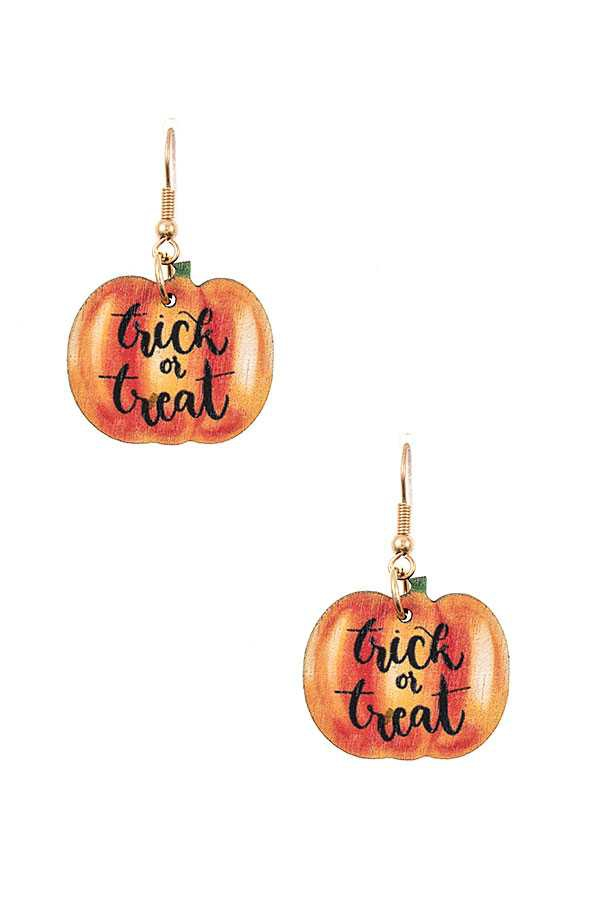 TRICK OR TREAT PUMPKIN EARRING - orangeshine.com