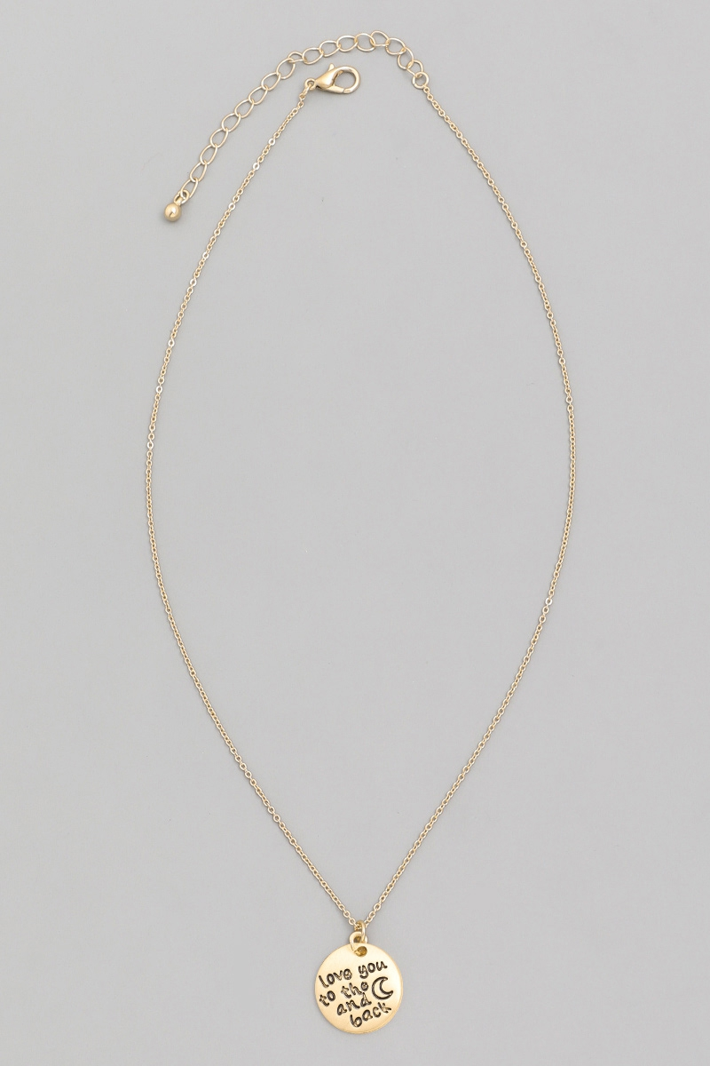 Love You To The Moon And Back Neckla - orangeshine.com