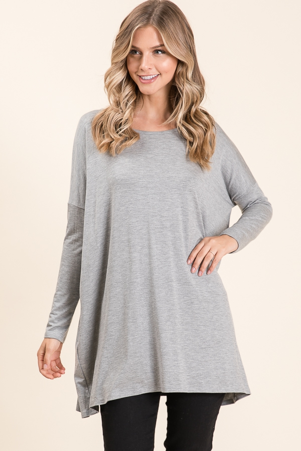 OVERSIZE FIT LONG SLEEVE TUNIC - orangeshine.com