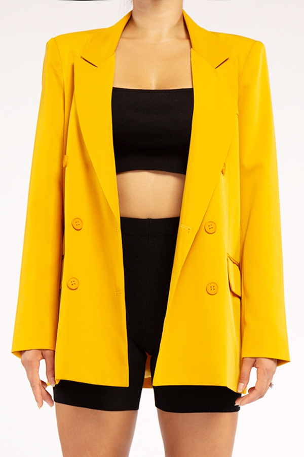 Oversize Double Breasted Blazer - orangeshine.com