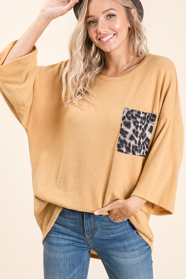 LOOSE FIT CHEST POCKET TUNIC - orangeshine.com