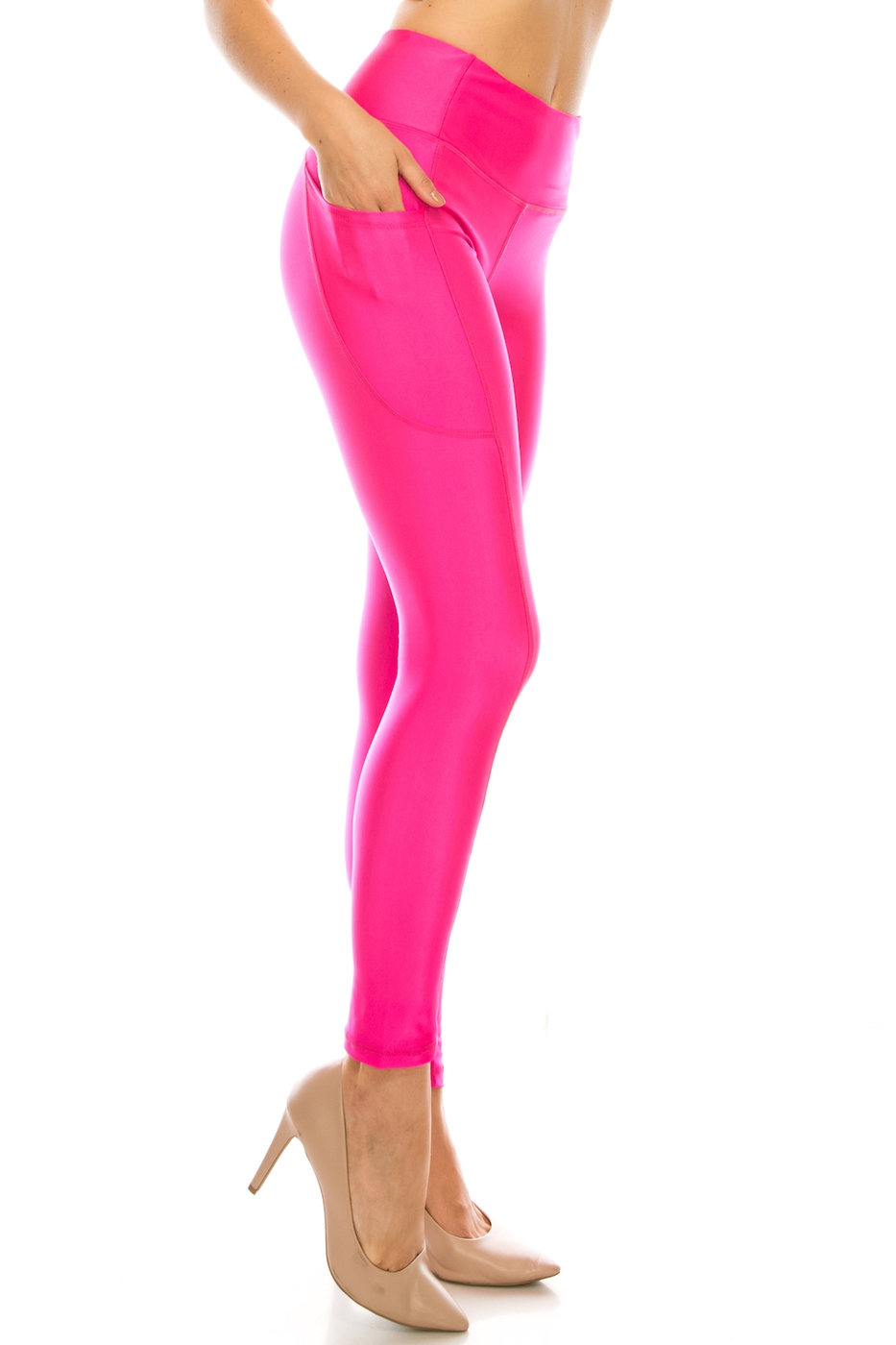 Shinny high waist yoga legging - orangeshine.com
