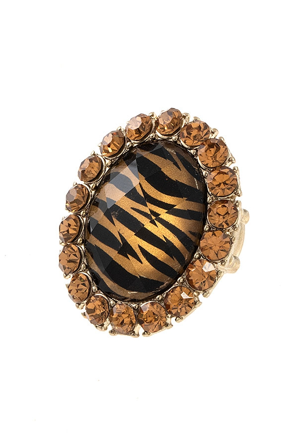 FACETED ANIMAL STONE RHINESTONE FRAM - orangeshine.com