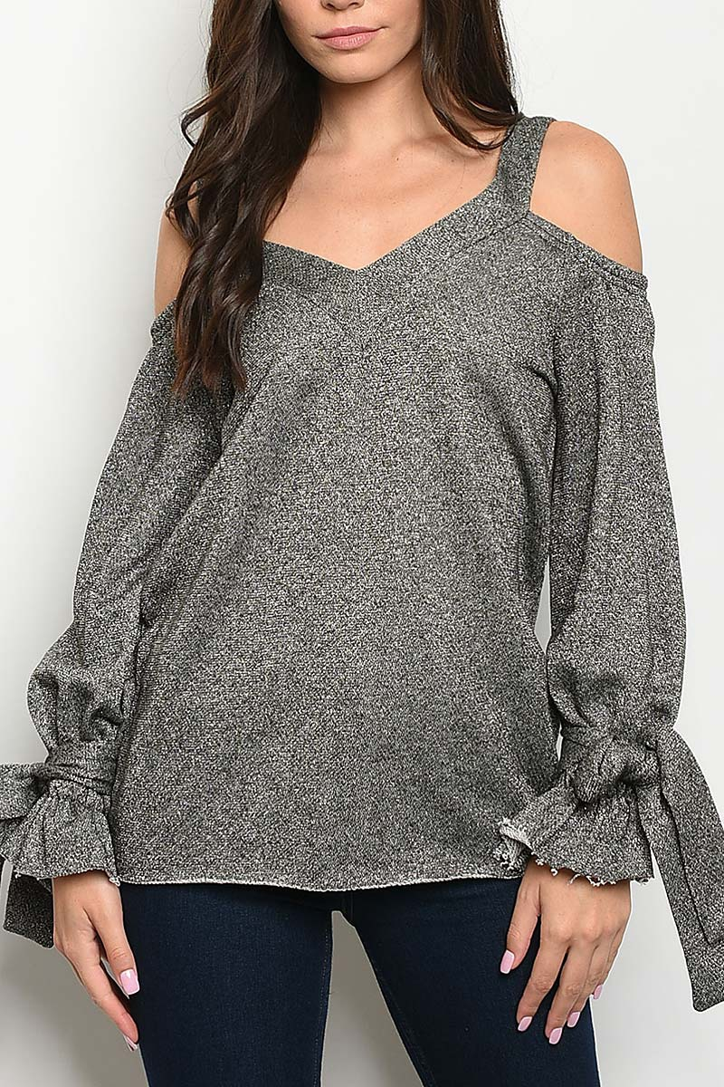 TIE SLEEVE OFF SHOULDER TOP  - orangeshine.com