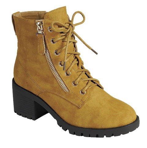 LADIES CLOSE TOE COMBAT  BOOTIES - orangeshine.com