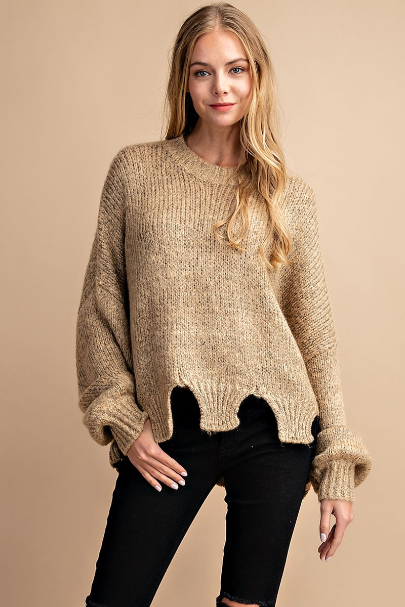 CROP SWEATER TOP - orangeshine.com
