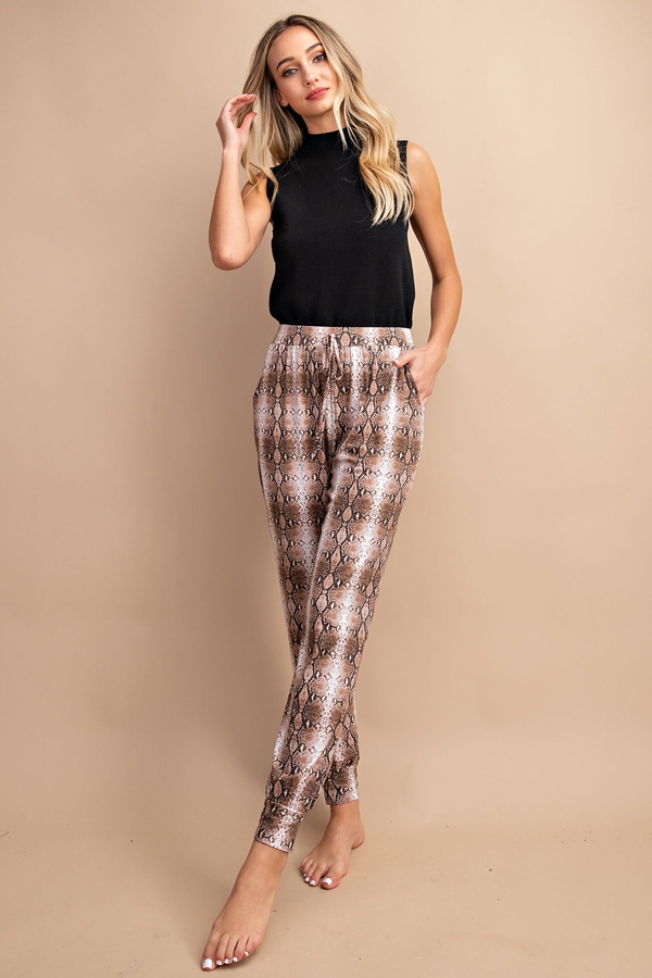 ANIMAL PRINT JOGGER PANTS - orangeshine.com