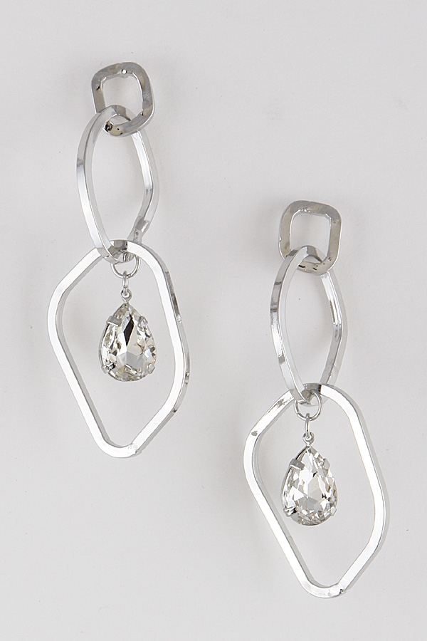 Unorthodox Link Teardrop Earrings - orangeshine.com