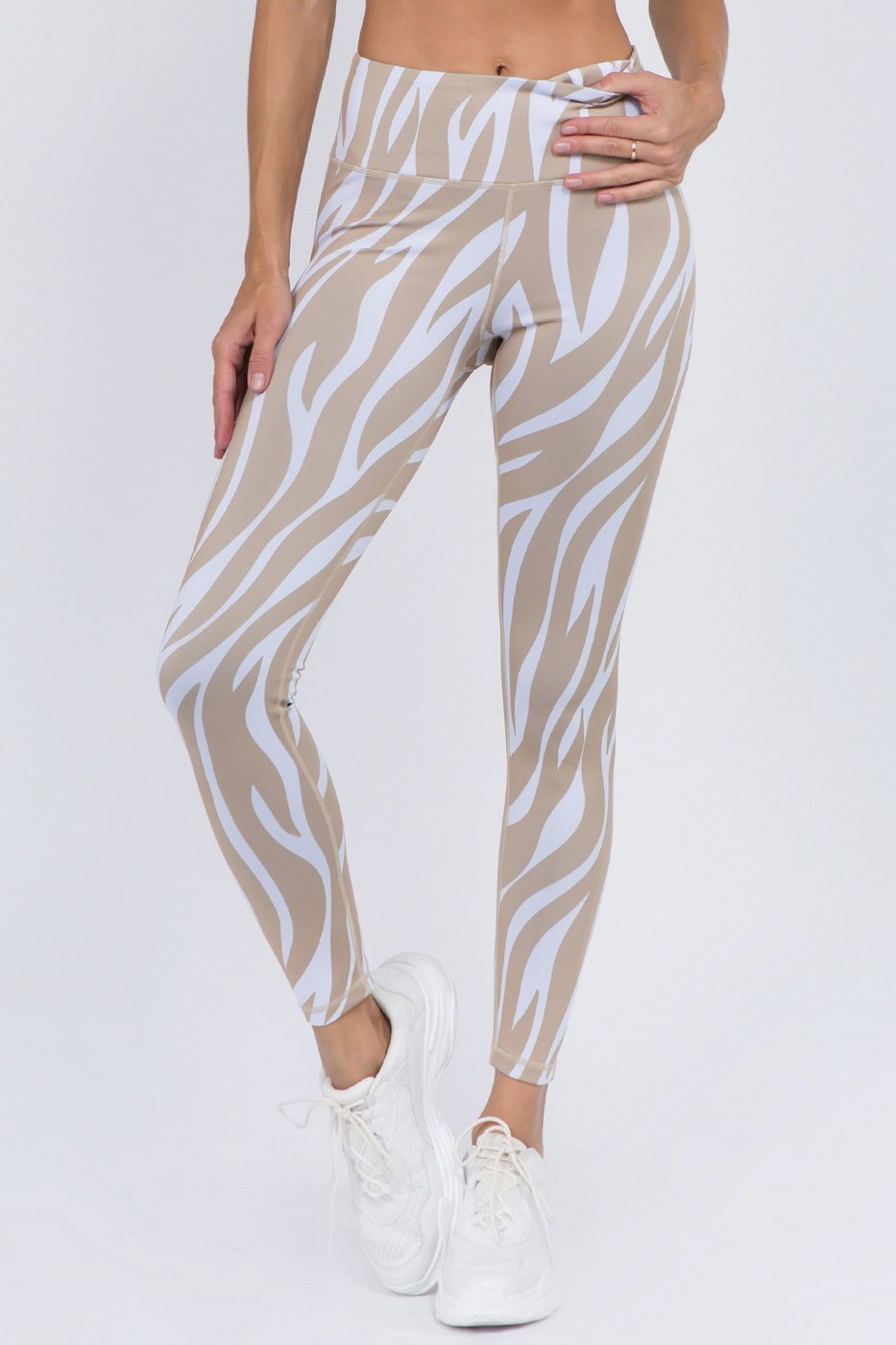 Active Tiger Striped Workout Legging - orangeshine.com