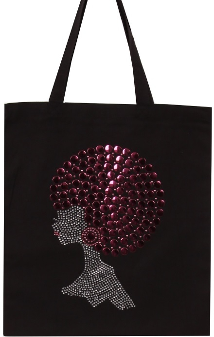 New Pink Pompom Hair Afro Girl Tote - orangeshine.com