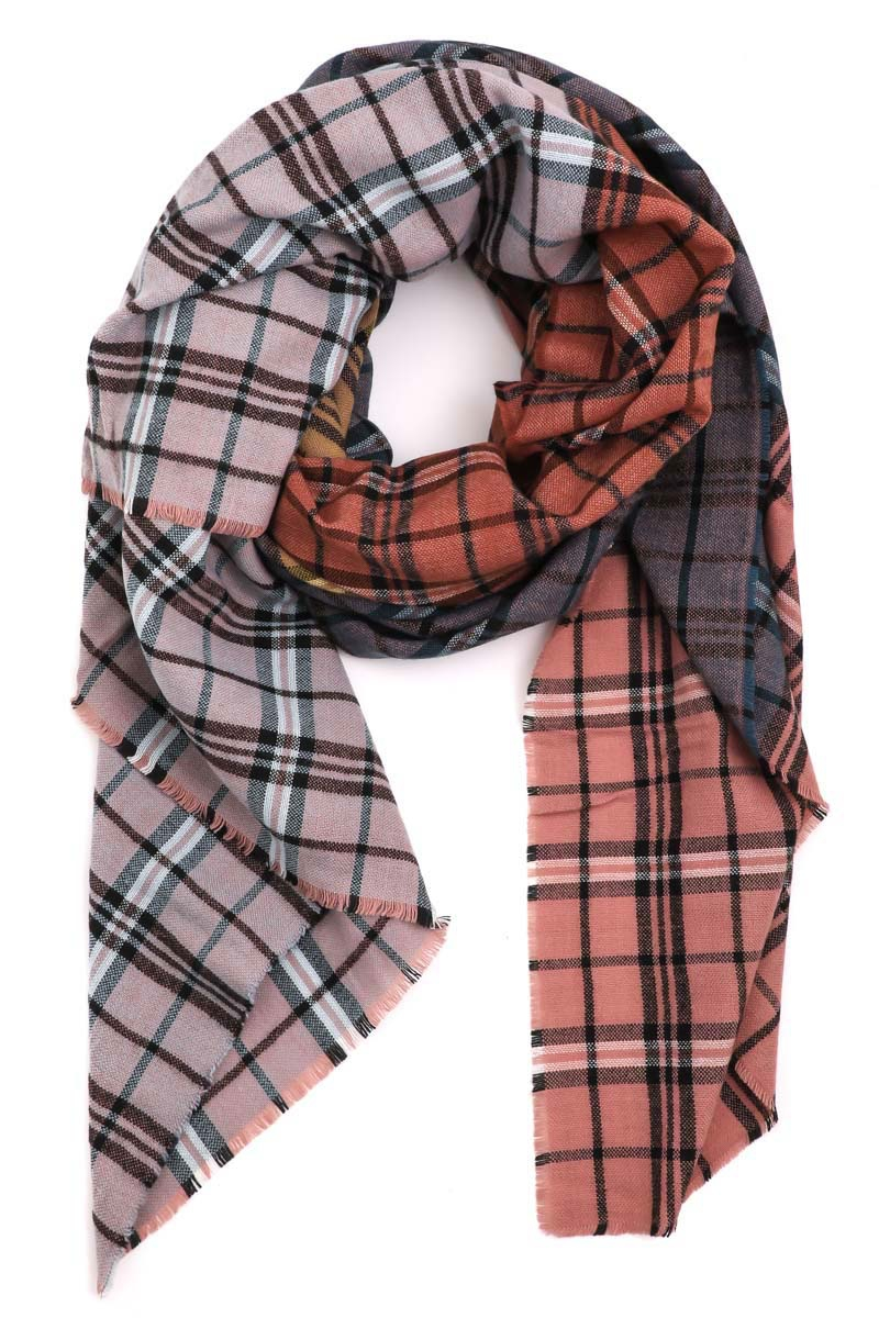 Multi Colored Tartan Scarf - orangeshine.com