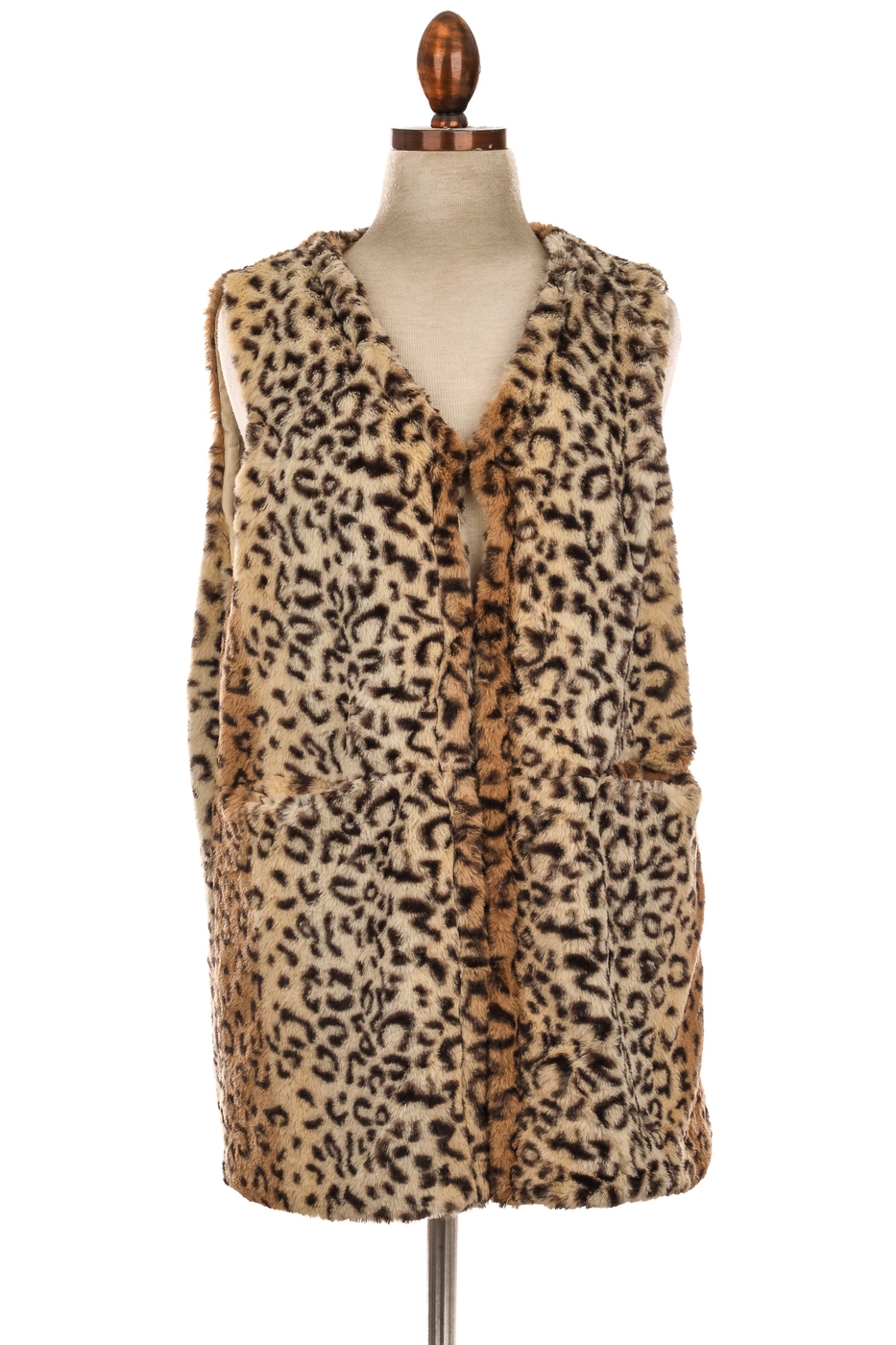 Fury Animal Print Vest - orangeshine.com