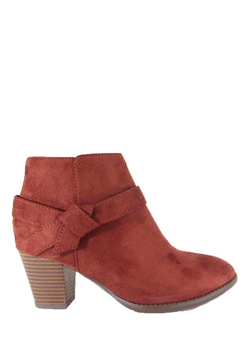 SIDE BOW SUEDE HIGH HEEL BOOTIE WITH - orangeshine.com