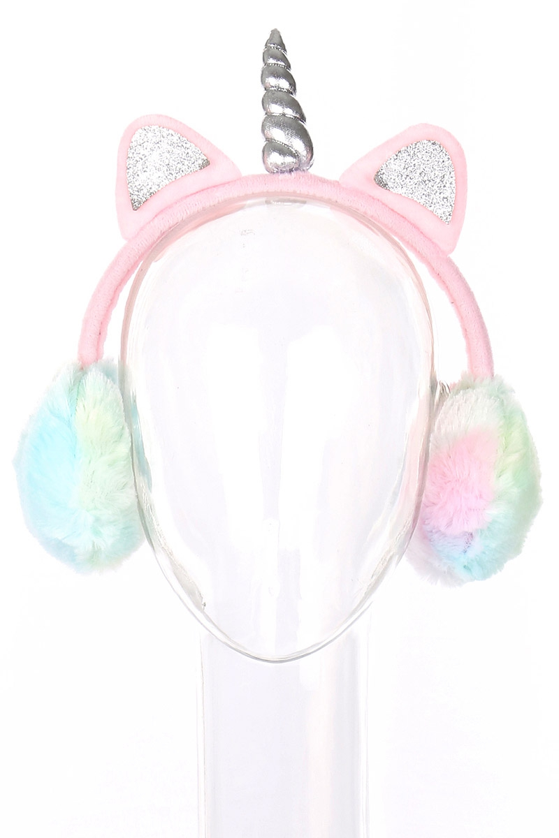 Unicorn Soft Fur Earmuffs - orangeshine.com