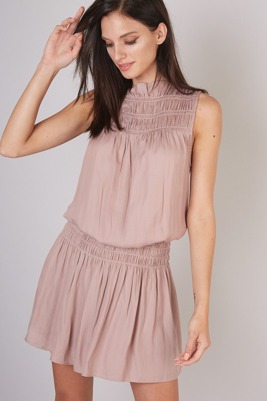 BLOUSON SILHOUETTE SMOCKED DRESS - orangeshine.com